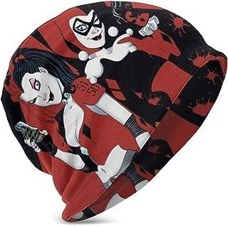 LREFON Cartoon Comic Har-Ley Qui-nns Niños Casual Beanie Hat Winter Warm Knit Ski Beanies Skull Cap