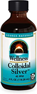 Source Naturals Wellness Colloidal Silver 45 ppm Supports Physical Well Being - 4 Fluid oz