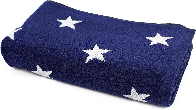 Badetuch 85 x 200 cm cm cm 100% Baumwolle 480 g m2 Stars blau marineblau B01B9SXYJA 4f1be7