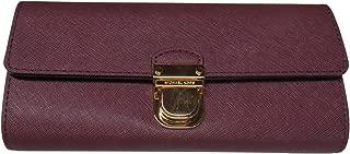Michael Kors Bridgette Saffiano Leather Flap Wallet Plum