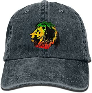 Sponsored Ad - Enzenon Cowboy Hat Cap For Men Women Rasta Lion, Navy, One Size