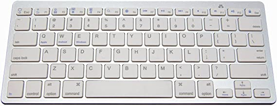NewVan Tech Ultra-Slim Bluetooth Keyboard Slim Portable Bluetooth Wireless Keyboard for iPad Air, iPad Mini, iPad Mini 2, iPad 2 / 3 / 4, Galaxy Tab, and other Tablets
