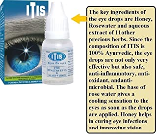 ITIS Herbal Eye Drops Wit Rosewater Ozone 100%Hebal Ayurvedic Healthy Eyes Vision