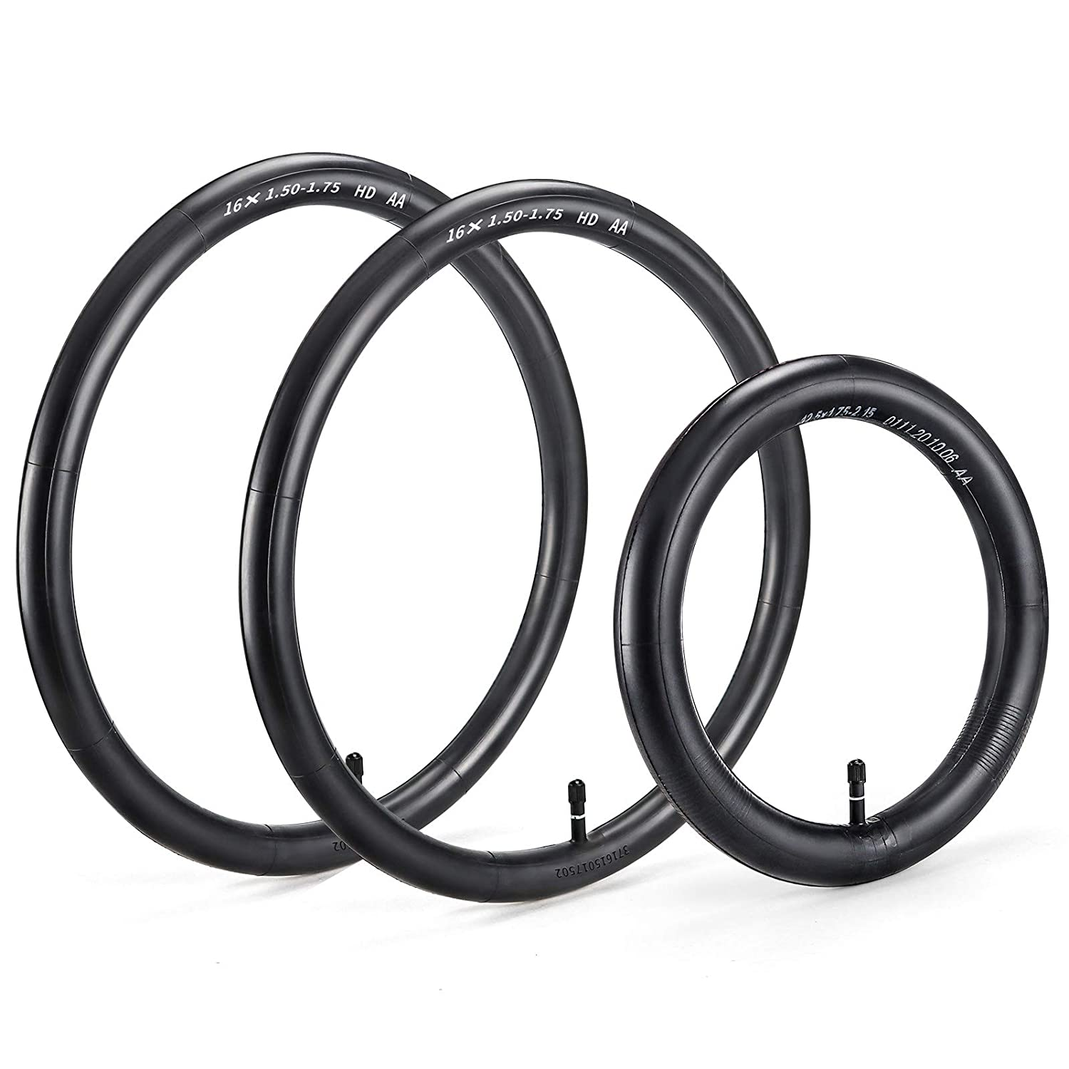 Tire Inner Tubes Two 16'' Back and One 12.5'' Front Premium Explosion Proof Wheel Replacement by Cenipar for All BOB Revolution, Royalbaby, and More Strollers, Set of Three