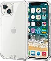 エレコム iPhone 13 2眼 ハイブリッドケース ZEROSHOCK インビジブル フォルティモ(R) クリア PM-A21BZEROT2CR