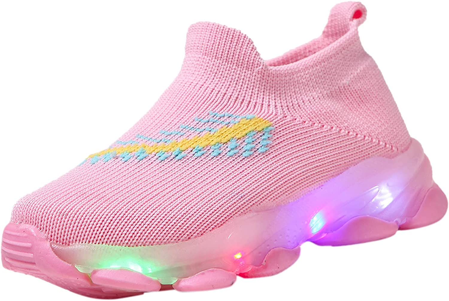 Kids Led Light Up Shoes Flashing Trainers,Fashionable Children Kid Baby Girls Boys Color Led Shoes Mesh Luminous Sport Running Kids Sneakers Shoes,Creative Children Day Birthday Gift