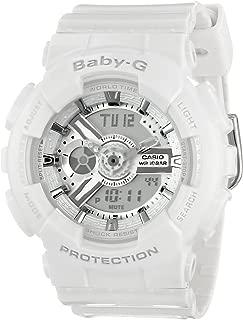 Women's BA-110-7A3CR Baby-G Analog Display Quartz White Watch