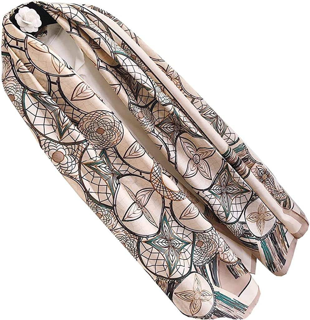 Women's and men's Seattle Elegant Mall 100% silk d are fashionable scarves luxury