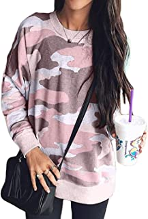 Womens Long Sleeve Spring Thin Sweatshirt Loose T-Shirt Blouses Tops