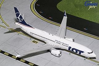 Gemini200 LOT Polish Airlines B737 MAX 8 SP-LVA 1:200 Scale Diecast Model Airplane, White