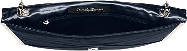 SwankySwans Damen-Clutch Louis, Veloursleder/Samt, schlankes Briefumschlag-Design, ideal für Partys, Hochzeiten, feine Anläss