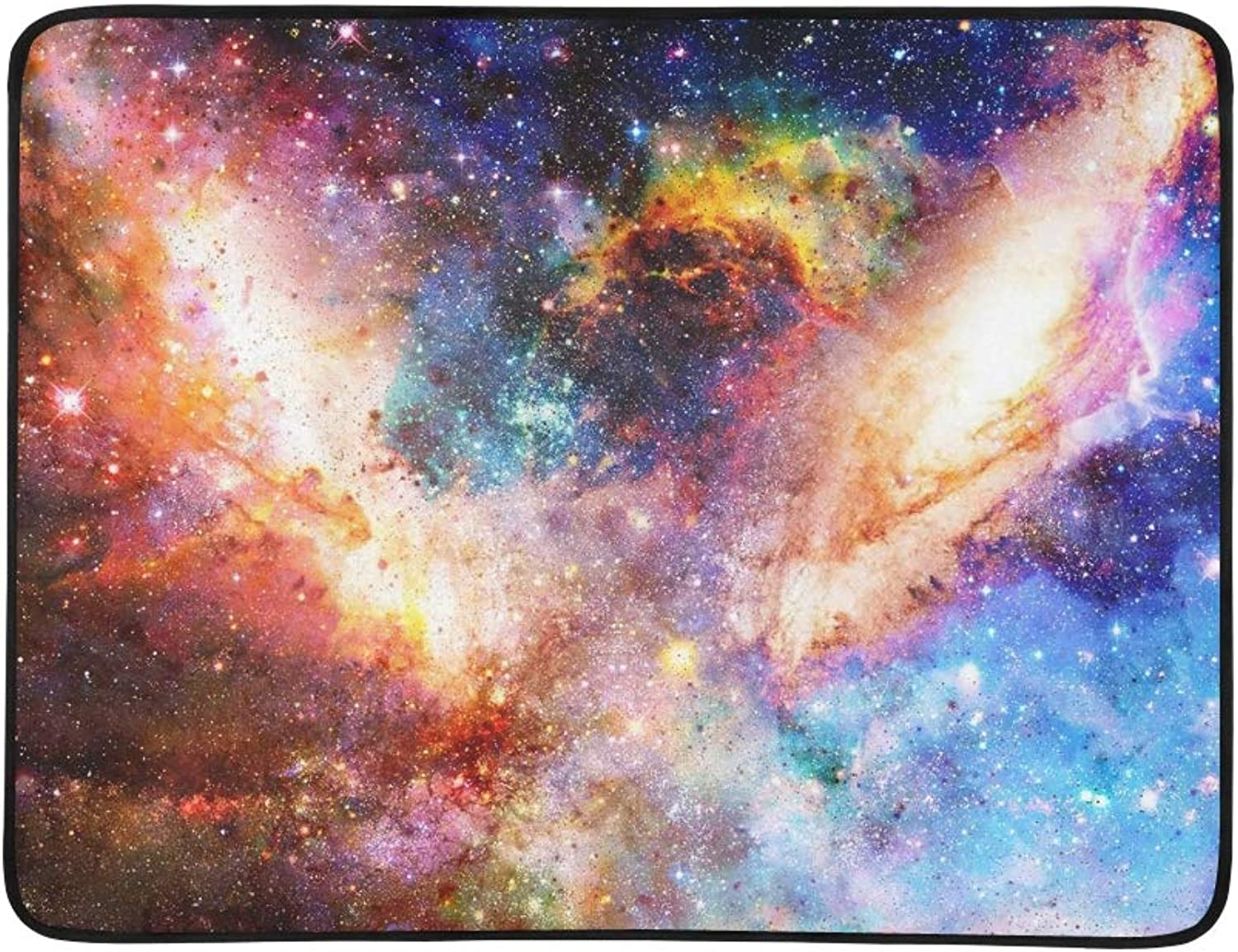 Cosmic Galaxy Stars color Cosmic Abstract Portable and Foldable Blanket Mat 60x78 Inch Handy Mat for Camping Picnic Beach Indoor Outdoor Travel