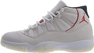 Jordan Mens Air Jordan 11 Retro Basketball Sneakers (Platinum Tint/Sail-university Red, Size 9.5 M US)