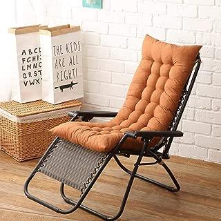 YOTHG Lounge Cushion Sun Lounger Replacement,Sun Lounger Cushion Sun Lounger Mattress for Garden Outdoor/Indoor/Sofa/Tatami/Car Seat/Bench(Light Coffee)