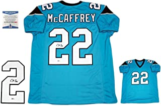 Christian McCaffrey Signed Jersey - Custom Beckett Pro Style ALT - Beckett Authentication - Autographed NFL Jerseys