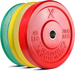 4039aa0c4ee X Training Equipment Premium Color Bumper Plate Solid Rubber with Steel  Insert - Great for Crossfit
