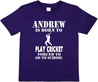 Print4u Andrew Born Play Cricket Tee Personalised T-Shirt