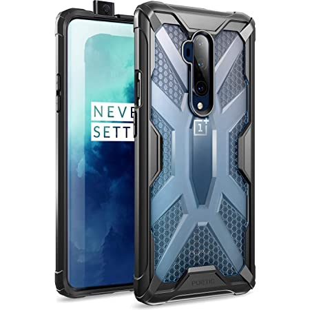 Poetic Affinity Series Designed for OnePlus 7T Pro/OnePlus 7 Pro Case, Rugged Lightweight Military Grade Hybrid Protective Bumper Cover, Clear/Black