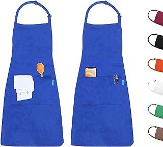 colore: blu HDCRAFTER Grembiule da lavoro con 9 tasche per attrezzi tela cerata cinghie incrociate sul retro e regolabile resistente allusura e durevole grembiule da giardino