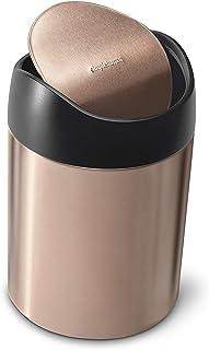 simplehuman 1.5L Countertop Trash Can, Rose Gold