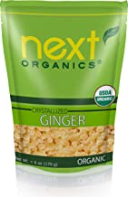 Next Organics Dried Crystallized Ginger, 6 Ounce (Pack of 6)