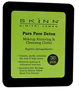 Skinn Makeup Removing & Cleansing Cloths (Pure Pore Detox) 30 Count