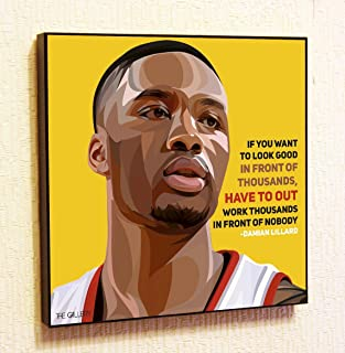 Damian Lillard NBA Backetball Motivational Quotes Wall Decals Pop Art Gifts Portrait Framed Famous Paintings on Acrylic Canvas Poster Prints Artwork (10x10