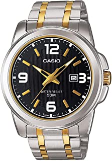 Casio Watch For Men Black Dial Metal Band [MTP-1314SG-1AVDF]
