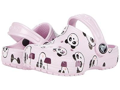 Crocs Kids Classic Panda Print Clog (Toddler/Little Kid/Big Kid) Girl