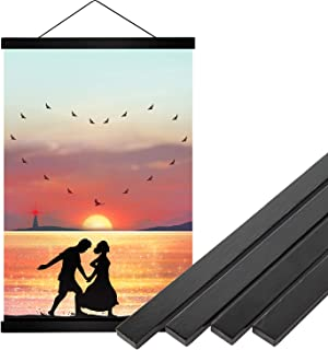 YMM 16x20 16x24 Black Poster Frame ,16 inch Wide Magnetic Poster Hanger for any Length Posters, Prints, Maps, Scrolls, and...