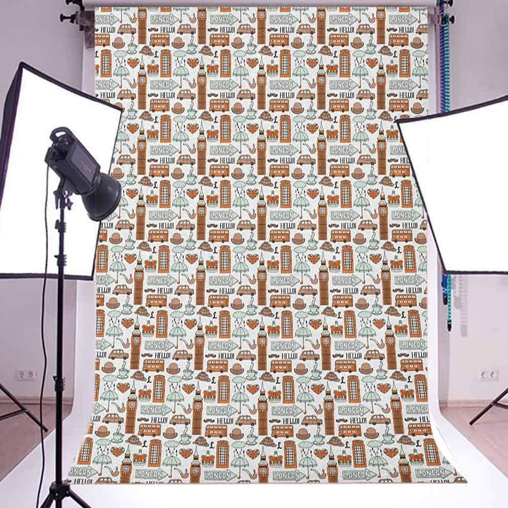 8x12 FT Vinyl Photography Background Backdrops,Duckies Swimming in The Sea with a Yellow Submarine Kids Party Nautical Print Background for Child Baby Shower Photo Studio Prop Photobooth Photoshoot