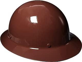 MSA 454672 Skullgard Protective Hard Hat Full Brim, Staz-on Suspension, Standard Size, Brown