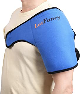 LotFancy Gel Ice Pack with Shoulder Wrap - Hot Cold Therapy for Sports Injuries, Sprains Sore, Swelling, Aches, Muscle and...