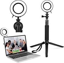 Video Conference Lighting Kit, Light for Tripod Stand & Suction Cup,for Remote Working, Distance Learning,Zoom Call Lighting, Self Broadcasting and Live Streaming, Computer Laptop Video Conferencing