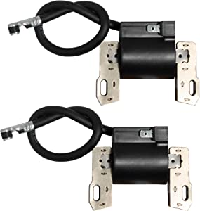 2Pcs Ignition Coil 592846 Compatible with Briggs Stratton BS 799651 Intek V-Twin 18-22HP Engine, Replaces 691060 401577