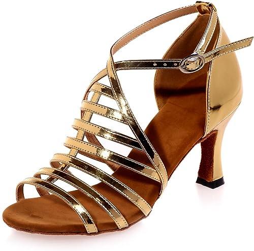 L@YC Chaussures De Danse FéMinine Satin Latin Jazz Swing Talons Hauts 7.5cm DéButants Professionnel Personnalisé