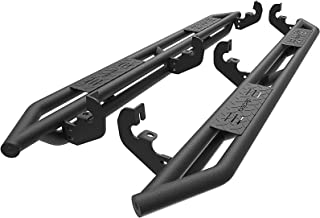oEdRo Running Boards Compatible for 2015-2018 Chevy Colorado/GMC Canyon Crew Cab, Textured Black Side Step 6 inch Nerf Bars
