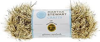 Lion Brand Yarn 5800-587 Martha Stewart Glitter Eyelash Yarn, Florentine Gold