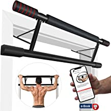 ROMIX Pull Up Bar for Door Frames, No Screws Chin Up Bar with Padded Handles, Professional Extra Wide Endurable for Hanging, Mounting Workout in Home, Gym, Indoor Fitness Exercise with e-Book