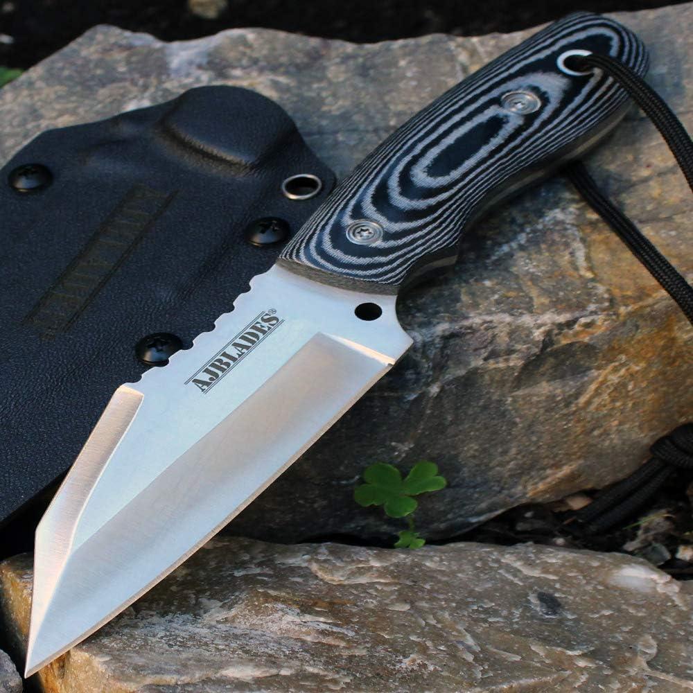 Full Tang Tactical Boot Hunting Knife MICARTA Handle - KYDEX She