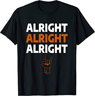 Texas Football Alright Alright Alright Long Horn Hand Sign T-Shirt