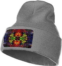 WSAAXDJJ Trippy Acid Wallpaper Hd Pics Widescreen Trip Desktop for Knit Hat Cap Black