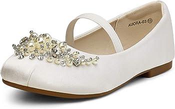 DREAM PAIRS Girl's Aurora-03 Mary Jane Ballerina Flat Shoes