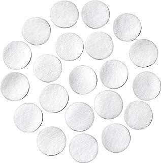 White Adhesive Felt Circles; 1/2