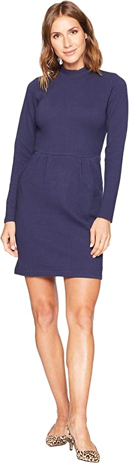 Patricia High Neck Jersey Dress