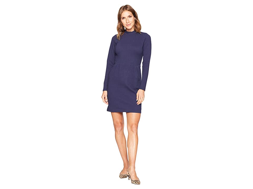 Joules Patricia High Neck Jersey Dress (French Navy) Women