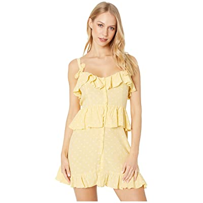 For Love and Lemons Tahiti Mini Dress (Yellow) Women