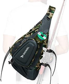 کیسه تک شانه ماهیگیری Rodeel ، ذخیره سازی بزرگ ، برای ماهیگیری در پرواز ، ورزش در فضای باز ، کمپینگ و پیاده روی