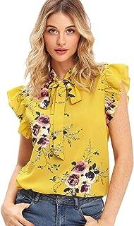Best short sleeve ruffle blouse Reviews