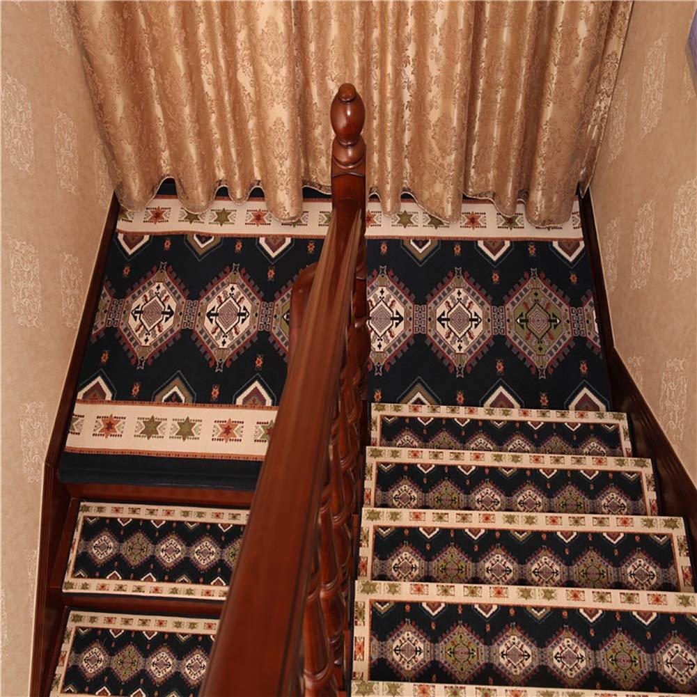 Antideslizantes para escaleras Alfombra Autoadhesiva para Escaleras Almohadillas Jacquard Alfombras De Escalera Silenciosa Alfombra De Casa Decoración Interior TZXSHO: Amazon.es: Hogar